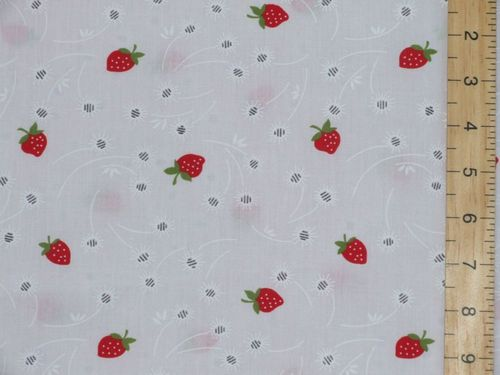 Strawberry Print Polycotton