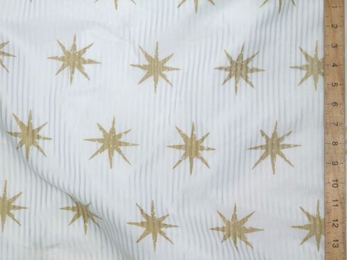"CLEARANCE: Star Print Polycotton 72"" wide - SAVE 50%"