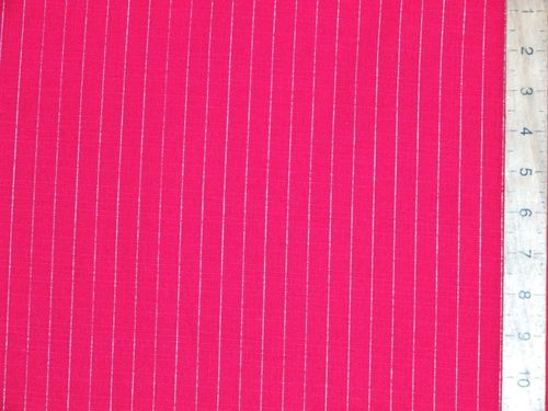 "CLEARANCE: Stripe Linen Mix 58"" wide - SAVE 55%"