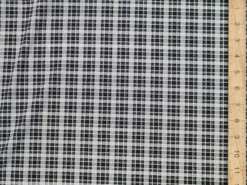 "CLEARANCE: Checked Stretch Polyester Fabric 58"" wide - SAVE 70%"