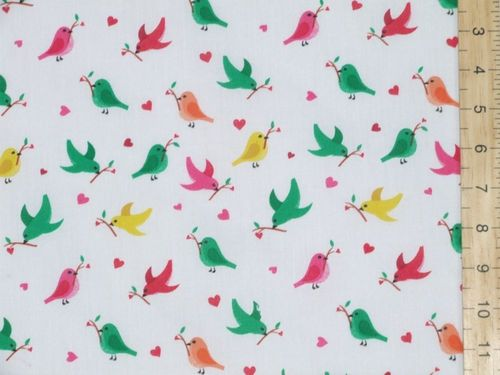 Printed Polycotton Birds