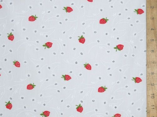 Polyester Cotton - Strawberry