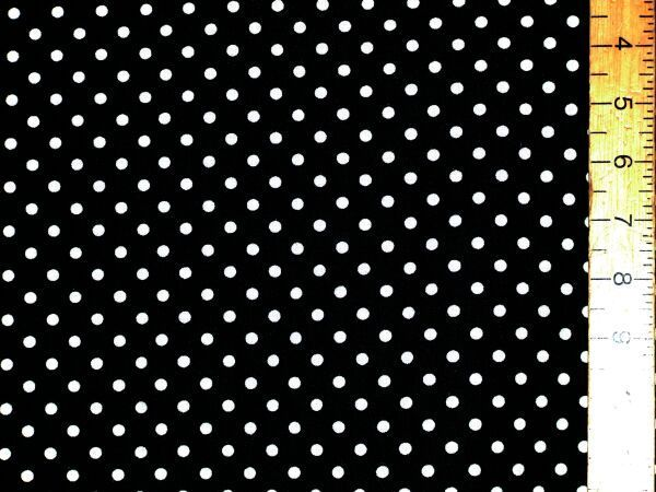 "Cotton - Polka Dot (Black, 54"" wide)"