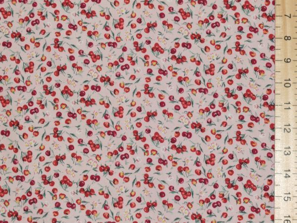 Cherry Design Pure Cotton (Pink)