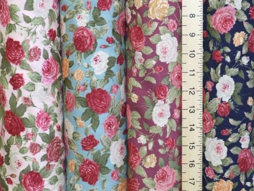 Large Roses Printed Pure Cotton
