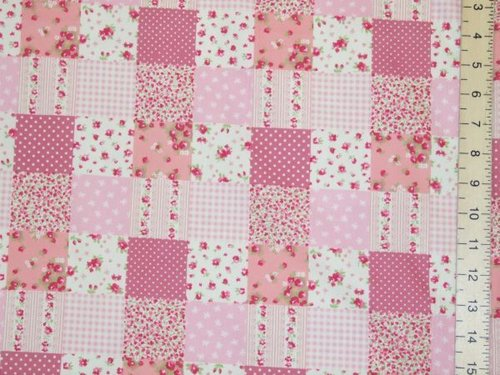 Pretty Patch Work Design Pure Cotton - Pink