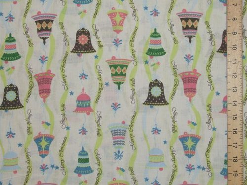 Xmas Bells Pure Cotton (White)