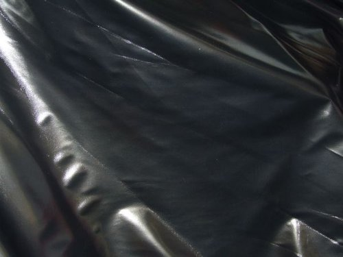 "CLEARANCE:  Metallic Black PVC 58"" wide - SAVE 35%"