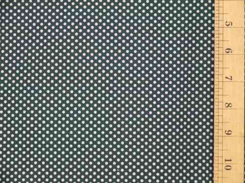 Pin Dot Polycotton Fabric (Dk Green)