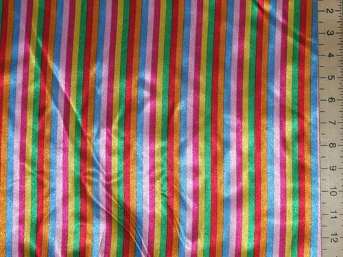 "Rainbow Stripes Satin (56"" wide)"