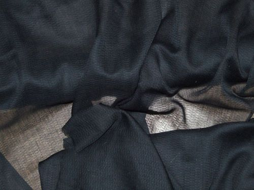 Self Print Cotton Muslin - Black
