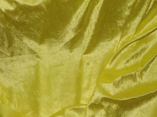 "CLEARANCE: Crushed Effect Velvet (Yellow) 60"" wide SAVE 50%"