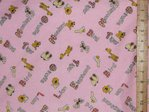 "Printed Brushed Cotton - Winceytte 58"" wide (Pink)"