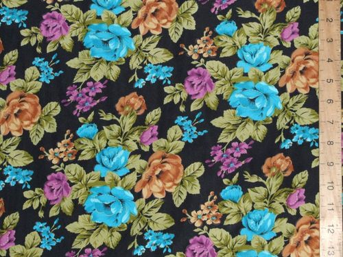 "Printed Peachtouch Crepe - Floral (58"" wide)"