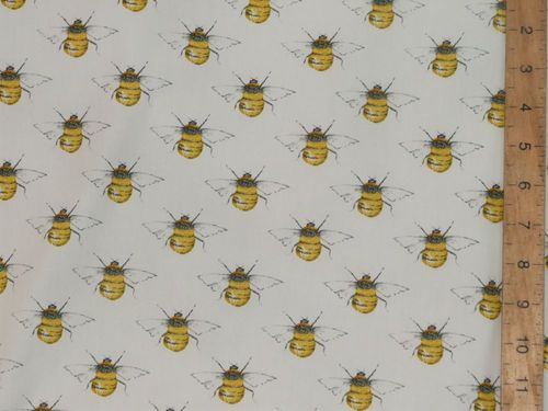 Printed Pure Cotton Bees / Wasps