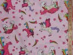 Unicorn Printed Pure Cotton (Pink)