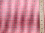 Polycotton Check Gingham - 3mm (Red)