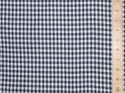 "CLEARANCE: Check Viscose Mix (Navy) 58"" wide - SAVE 50%"
