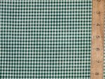 Polycotton Check Gingham - 3mm (Dark Green)
