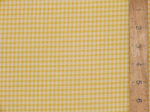 Polycotton Check Gingham - 3mm (Yellow)