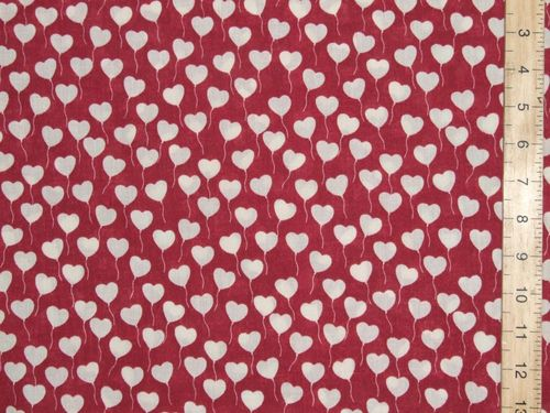 Pretty Hearts Printed Polycotton Fabric