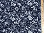 "Cotton Viscose Fabric (Navy) 56"" wide"