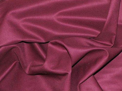 "CLEARANCE: Cotton Drill (Burgundy) 44"" wide - SAVE 50%"