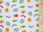 Animals Printed Polycotton Fabric