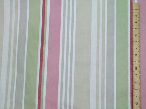 "CLEARANCE: Premium Designer Pagoda Stripe 100% Cotton (Curtains & Furnishing) 56"" wide - SAVE 50%"