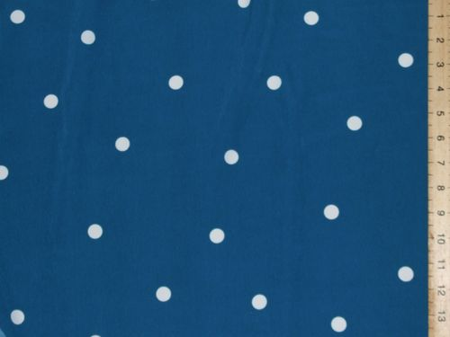"Printed Peachtouch Crepe Dress Fabric - Polka dot (58"" wide)"