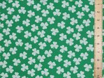 Shamrocks St. Patrick's Day Lucky Clover Polycotton Fabric