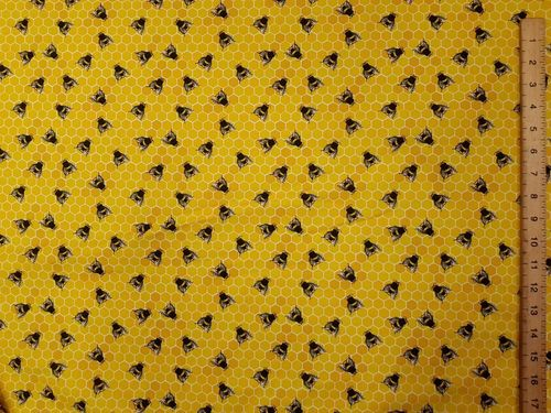 Printed Pure Cotton Honeycomb (Yellow)
