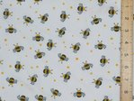 Polycotton - Bees / Wasps White