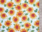 Sunflower Print Pure Cotton
