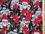 Skull & Roses Ultimate Print Pure Cotton (Black)