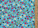 Jelly Sweets Printed Pure Cotton (Turquoise)