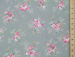 Floral Rose Print Pure Cotton (Grey)