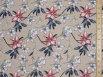 "Printed Viscose Fabric 58"" wide"