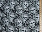 Skull & Roses Ultimate Print Pure Cotton (Grey)