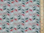 Xmas Small Reindeers Polycotton Fabric - Grey