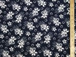 "Printed Viscose Fabric 58"" wide (Navy)"