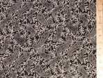 "Paisley Printed Viscose Fabric 58"" wide (Black)"