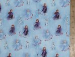 Printed Pure Cotton Fabric - Disney Frozen