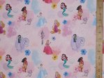 Printed Pure Cotton Fabric - Disney Princesses